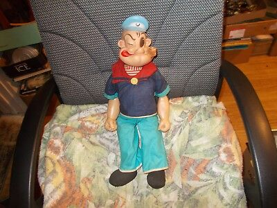 "Vintage  Popeye    Doll   21""   Gund  King Features W/  Voice   Crank  On  Back"