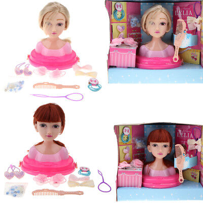 Doll Styling Head Hairdressing Play Model Set Hair Accessories Girls Xmas