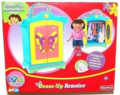 TOYS: Dora the Explorer DRESS-UP ARMOIRE, Hangers, Gown Adventure Collection NEW