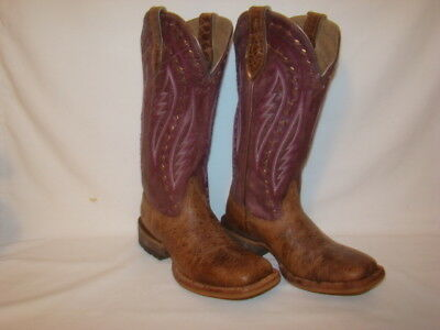 ARIAT WOMEN COWBOY Boots size 5.5 B Heritage Black Leather
