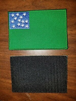 Vermont Green Mountain Boys Flag Patch - black hook and loop fasteners on back