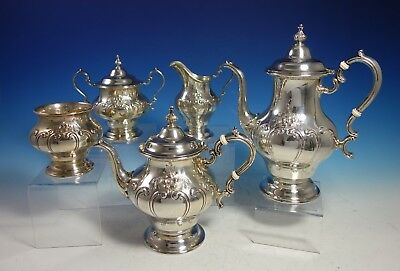 Chantilly Countess by Gorham Sterling Silver Coffee Tea Set 5pc (#2967)