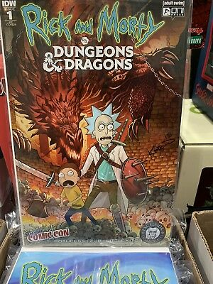 Rick and Morty vs Dungeons & Dragons #1, Signed Alex Kotkin, NYCC Exclusive