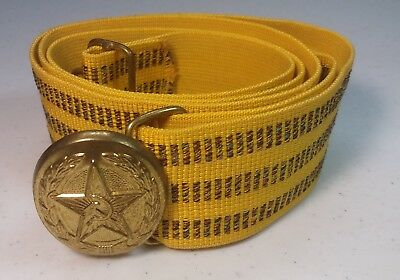Vintage Mint USSR Soviet Russian Navy Officer's Dress Parade Belt with Buckle