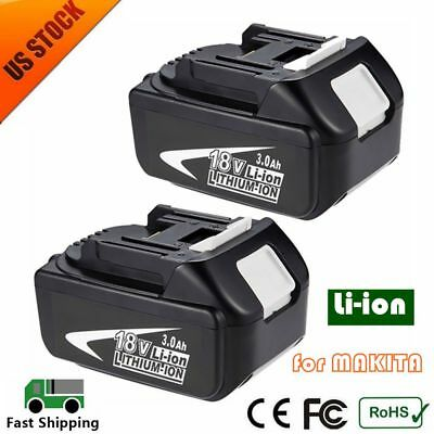2 PACK 18V 3.0Ah Replace BL1830 Battery LXT Lithium-Ion for MAKITA BL1845 BL1815