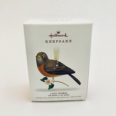Hallmark 2018 Lady Robin Limited Edition Ornament The Beauty of Birds Keepsake