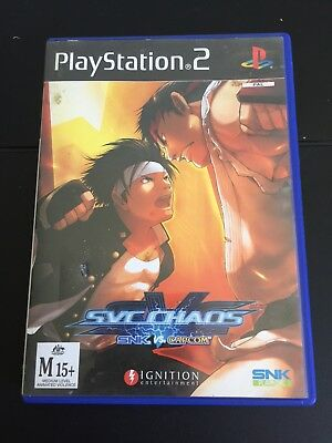 SVC Chaos SNK vs Capcom (Sony PlayStation 2, 2005) Complete Rare Fighter PS2 AU