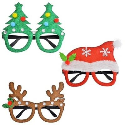 Christmas Holiday Novelty Glasses Accessory