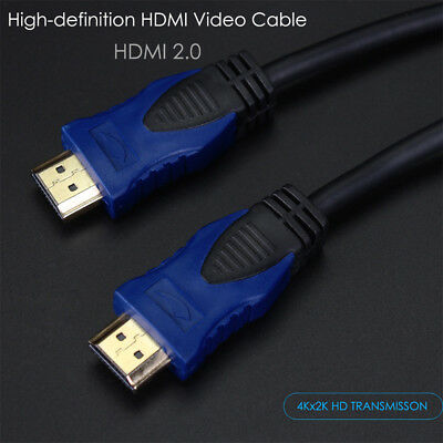 3FT 6FT HDMI 2.0 4K 3D Cable HDTV High Speed + Ethernet PS3 PS4 Bluray UHD