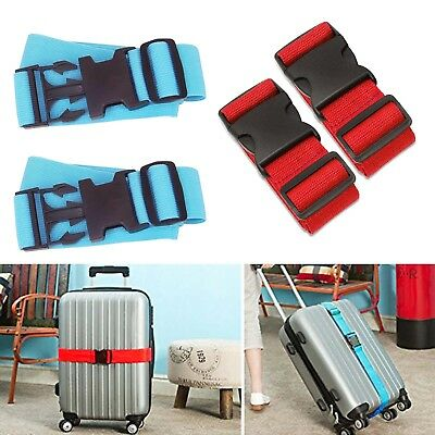 Long Luggage Straps Adjustable Suitcase Belt Travel Packing Belt with Buckle