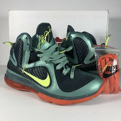 quality design 12ceb 1a7ef Nike LEBRON IX 9 Cannon Men s Shoes 469764-004 Volt Slate Blue Orange Sz 9