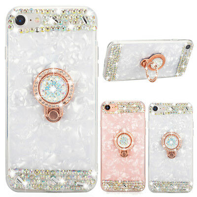 Crystal Ring Back Case Cover Handy Hülle Schale Für iPhone 5 6S 8 Plus Xr Xs Max