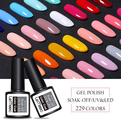 8ml LEMOOC Nail UV Gel Polish Soak off Nail Art UV Gel Color Colorful UV/LED