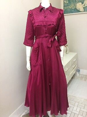 Original Vintage 40s Dressing Gown Robe Nightgown Lingerie, Burlesque Pinup