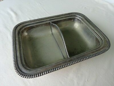 Vintage Silver EGW & S  2 Section Silverplate Serving Dining B & B Breakfast