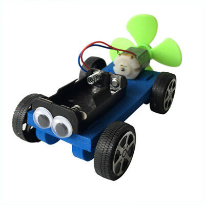 Creative Air Powered Car Assembly Model Kit Science Educational DIY Toy Gift