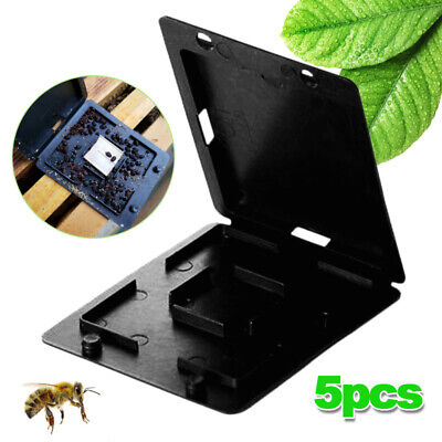 US Stock 5Ps Beekeeping Beehive Hive Beetle Trap Case Cover Nest CD Type Plastic