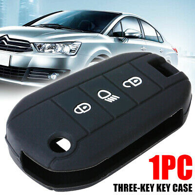 1 Silicone Key Cover Case For Peugeot 508 3008 308 208 2008 Remote Fob Protector