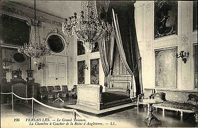 VERSAILLES France CPA ~1900/10 Chateau Schloss Le Grand Trianon Schlafzimmer