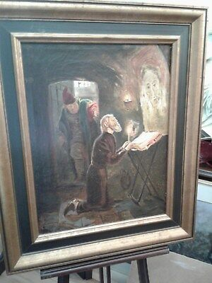 ANTIQUE 18th 19th CENTURY  RELIGIOUS PAINTING RUSSIAN ARTIST A. VYDIRAL