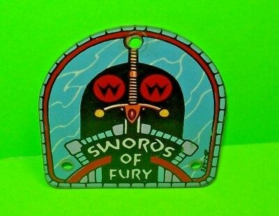 Williams SWORDS OF FURY Original 1988 Pinball Machine Plastic Promo Keychain