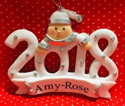 Personalised Tree Ornament Or Baby's My first 1st christmas
