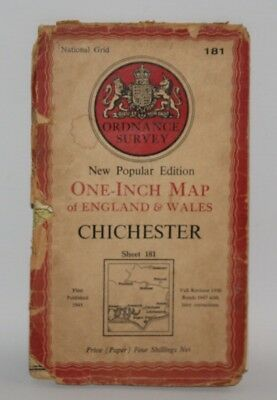 Ordnance Survey - One Inch Map - Chichester - Sheet 181 - 1945