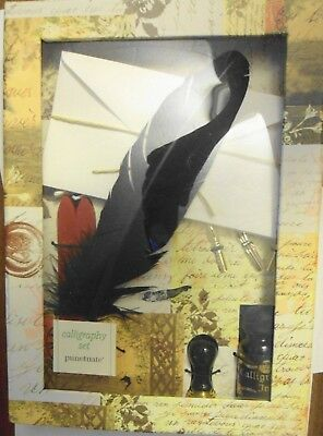 Calligraphy Set Starter Kit Feather Pen Nibs Sealing Wax Heart Tools Punctuate