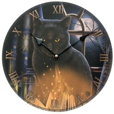 New Lisa Parker Bewitched Cat Clock  30x30cm.