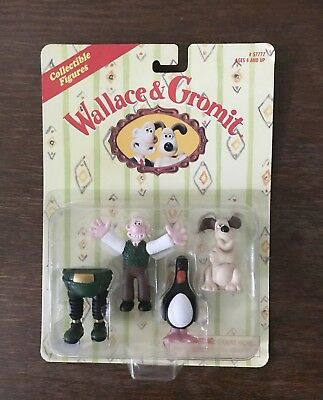 Wallace & Gromit Figures Wrong Trousers Feathers Mcgraw Penguin Sealed
