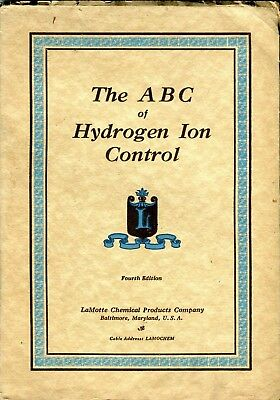 Vintage LaMotte Chemical THE ABC OF HYDROGEN ION CONTROL 4th Ed 1928 Catalog