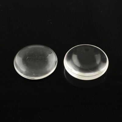 20 Transparent Glass Cabochons Dome Seal Round Clear Size 20mm wide 5.5mm thick