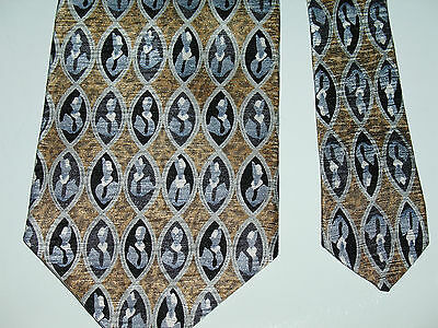 Cocktail Collection Geometric Tie 55L 3-3/4W 100% Silk Tie Made in USA T-5