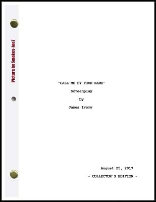 Call Me By Your Name - MOVIE SCRIPT / SCREENPLAY / DIGITAL BOOK