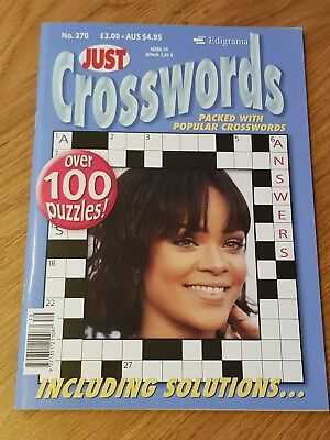 Just Cross Words - Crossword Puzzle Book - 100 Puzzles - Issue 270 - RRP £2.00