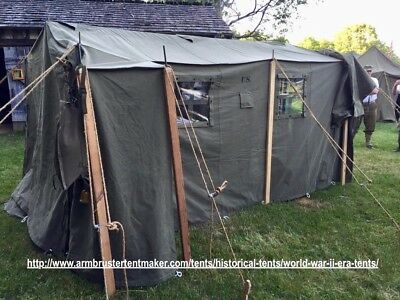 WWII WW2 US ARMY Tent Command Post Tent M1942 24-T-318-33 & WWII WW2 US ARMY Tent Command Post Tent M1942 24-T-318-33 WWII US ...