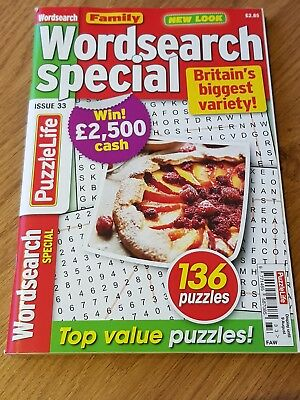 Family Wordsearch Special - 136 Word Search Puzzle Book - Issue 33 - Puzzles!
