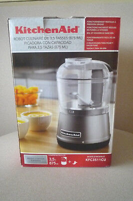 New Open Box Kitchenaid Kfc3511cu Food Chopper 3 5 Cup 2 Speed