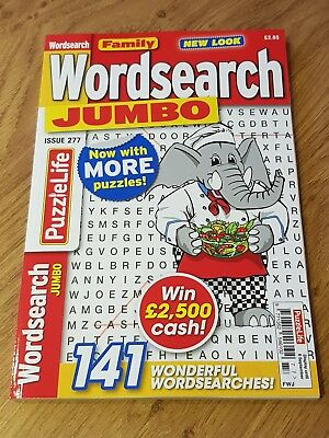 Family Wordsearch JUMBO - 141 Word Search Puzzles!  PUZZLE BOOK Issue 277