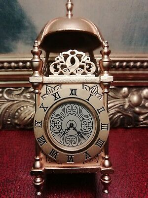 Excellent Little Brass Quartz Carriage Clock . Working.
