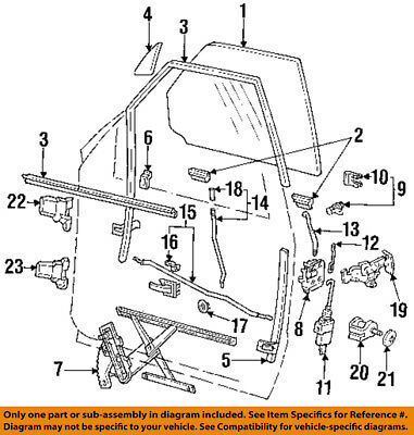 Ford Oem Front Door Lock Cylinder 5f1z5421990aa