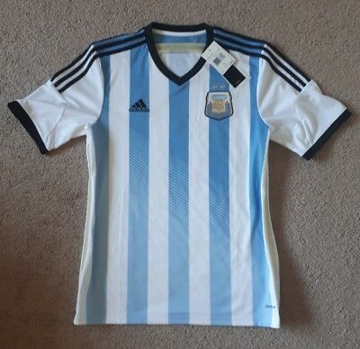 4f54741171b AUTHENTIC ADIDAS ARGENTINA 2014 World Cup Home Jersey Mens Large Nwt ...