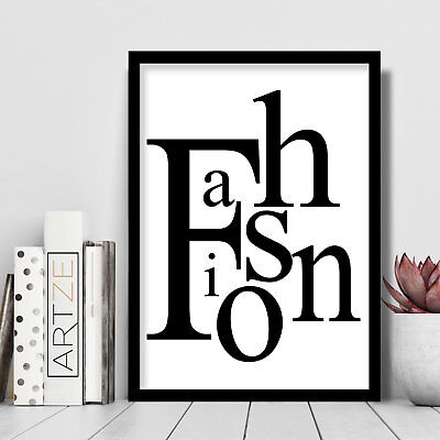 FASHION Text Art PRINT Minimalist Typography Picture Poster Wall Art *