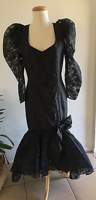 Vintage 80s PROM dress BRIDESMAID formal PARTY hens COCKTAIL plus size  14