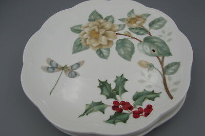 Lenox China BUTTERFLY MEADOW HOLIDAY Accent Plates - Set of Four - New