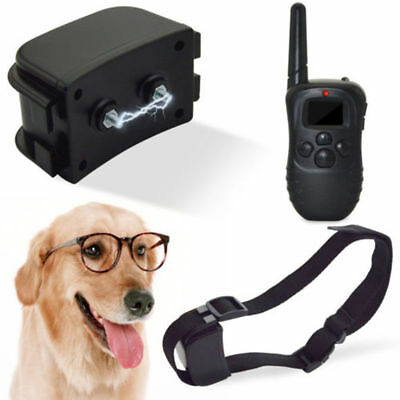 100LV 300M Remote LCD Electric Shock Vibrate Pet Dog Training Collar Waterproof