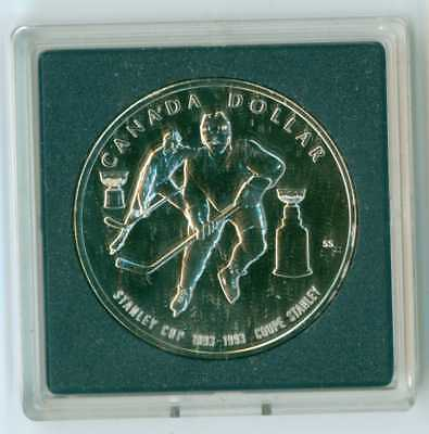 1993 Canada Uncirculated Silver Dollar .925 Fine Silver Low Mintage Stanley Cup