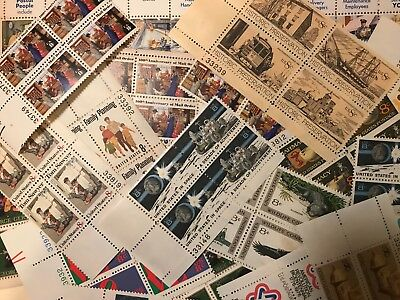 US  MINT POSTAGE stamp lot collection 25 -  8 cent blocks of 4 = 100 stamps