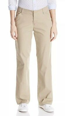Dickies Women's Relaxed Straight Stretch Wrinkle Resistant Pant 8 Short Sand