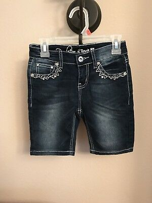 Girls Pre-Owned Blue Jean Shorts by Revolution by Revolt , Size 8
